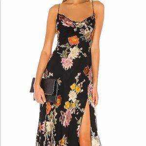 Astr black floral midi dress from revolve